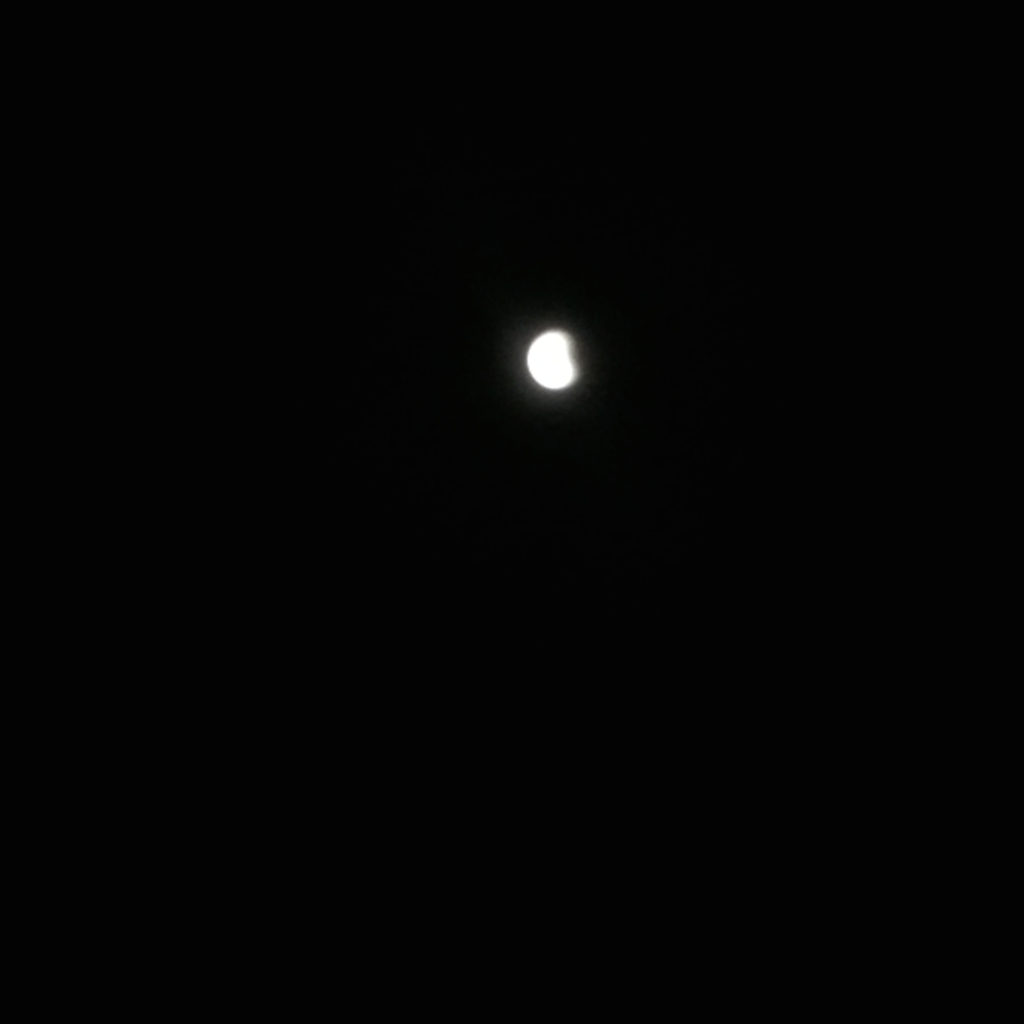 Blurry photo of eclipse
