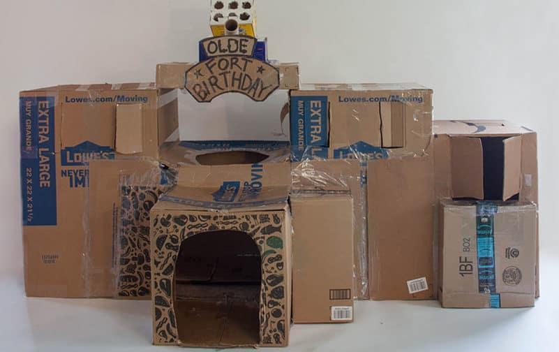 Homemade Cardboard Fort