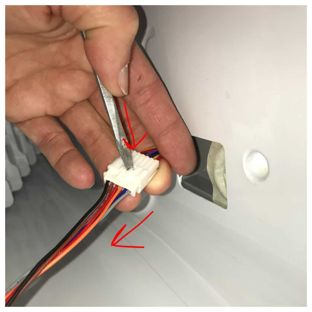 Disconnecting Wires inside Kenmore Elite French Door Fridge