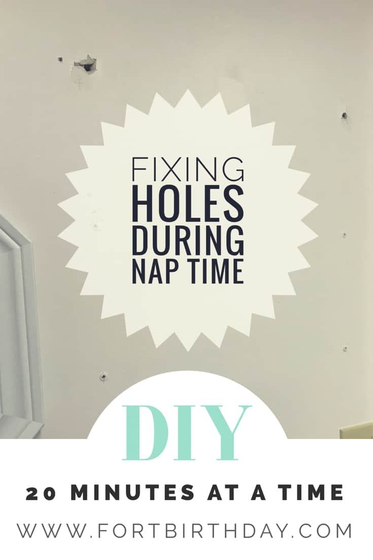 Cover page for fixing holes during nap time