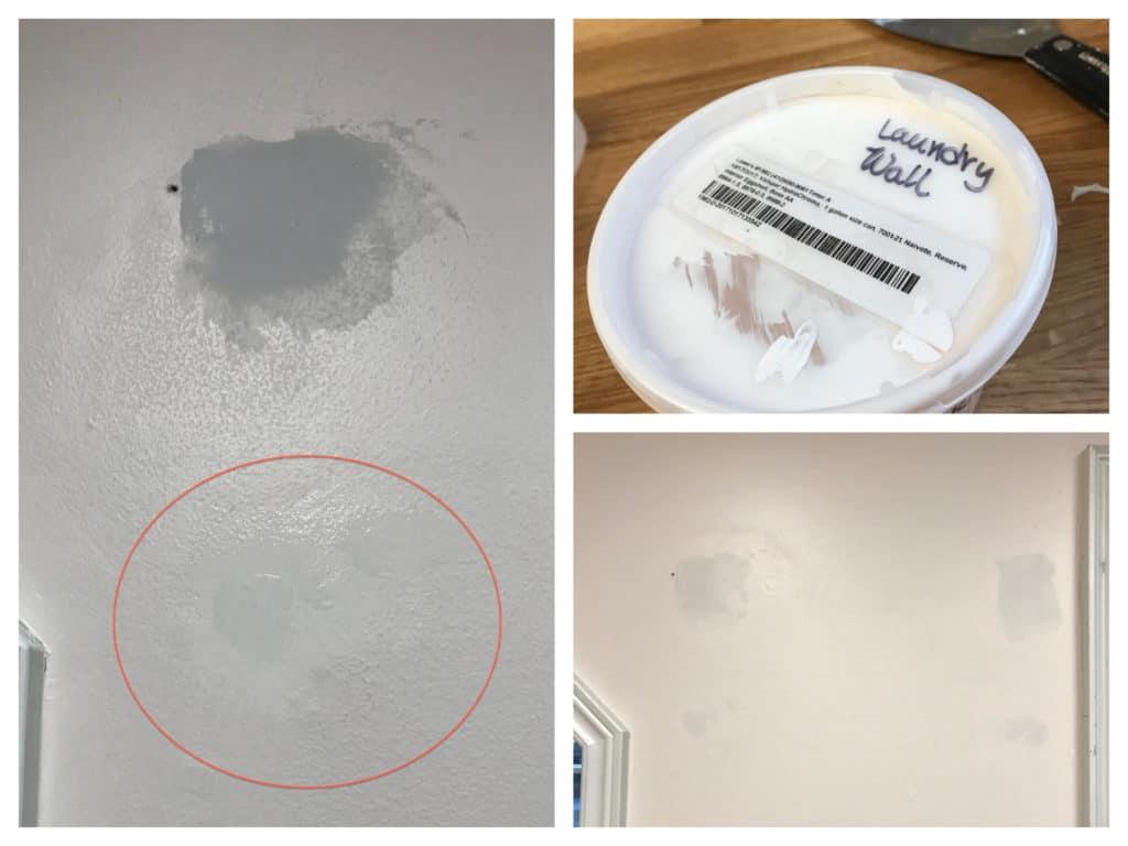 Painting over drywall repair