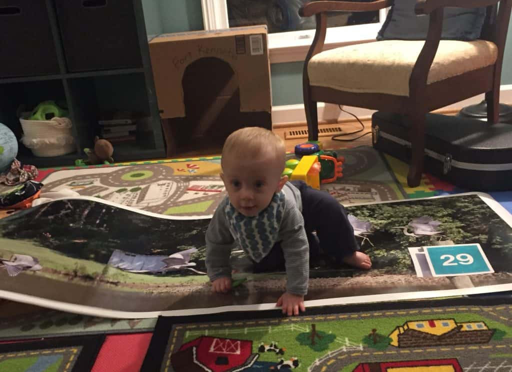 Baby in a Playroom