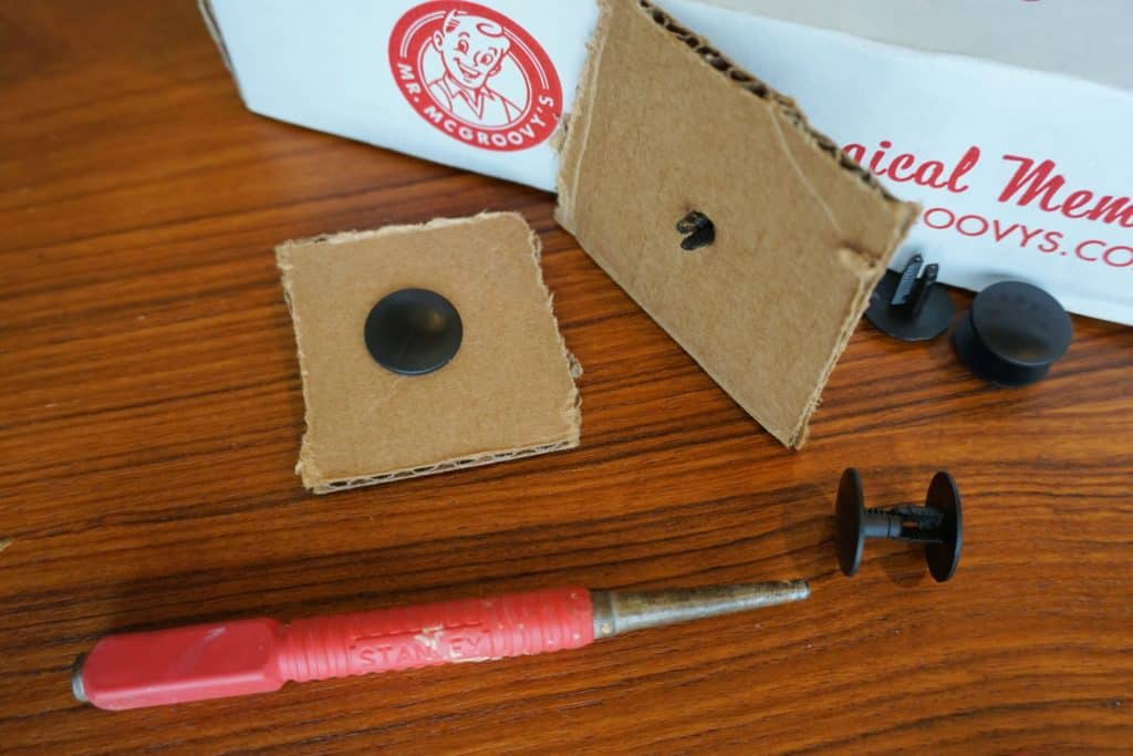 Mr. McGroovy's box rivets hold up fort birthday