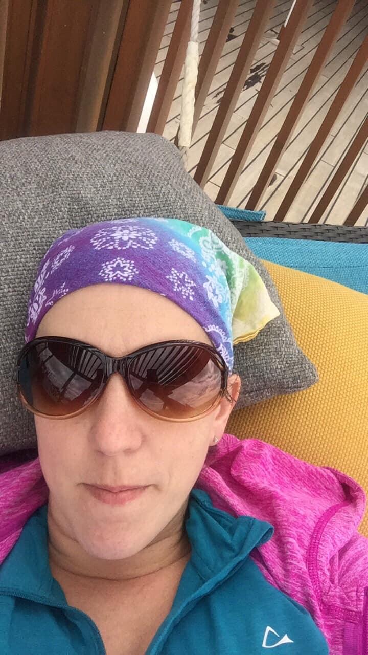 selfie on a cruise ship hammock
