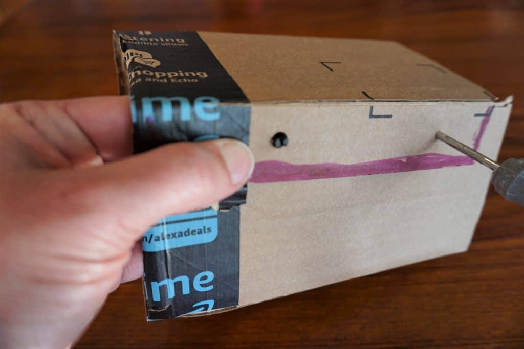 Box rivet Mr. McGroovy's box rivets hold up fort birthday insertion