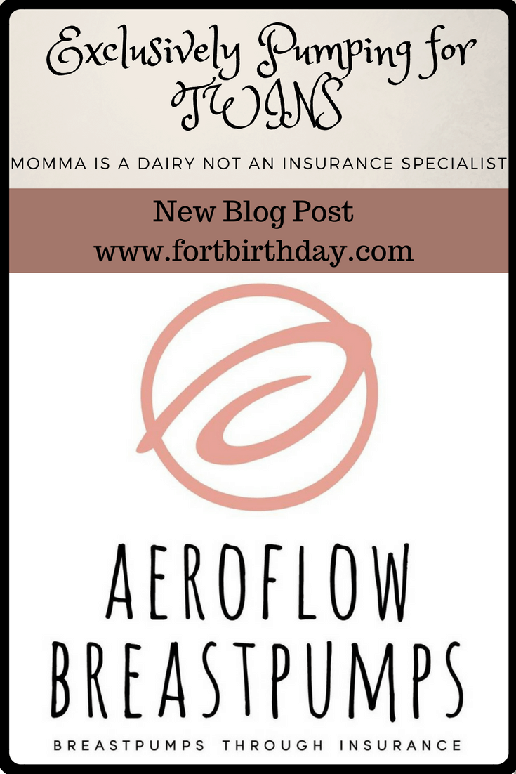 New blog up on fort birthday exclusively pumping for twins over 18 months using medela and kiinde would have been easier with help from Aeroflow breastpumps