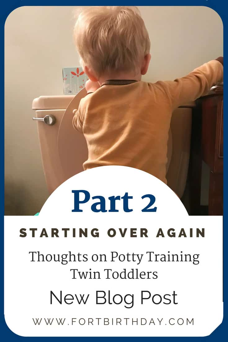 Part 2 Starting over again thoughts on potty training twin toddlers new blog post
