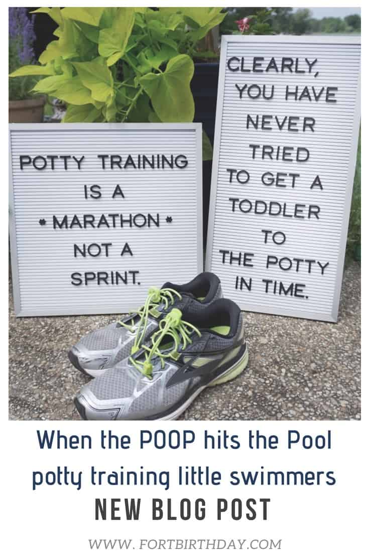 Pinterest Pin for Potty Training when the poop hits the pool little swimmers and potty training