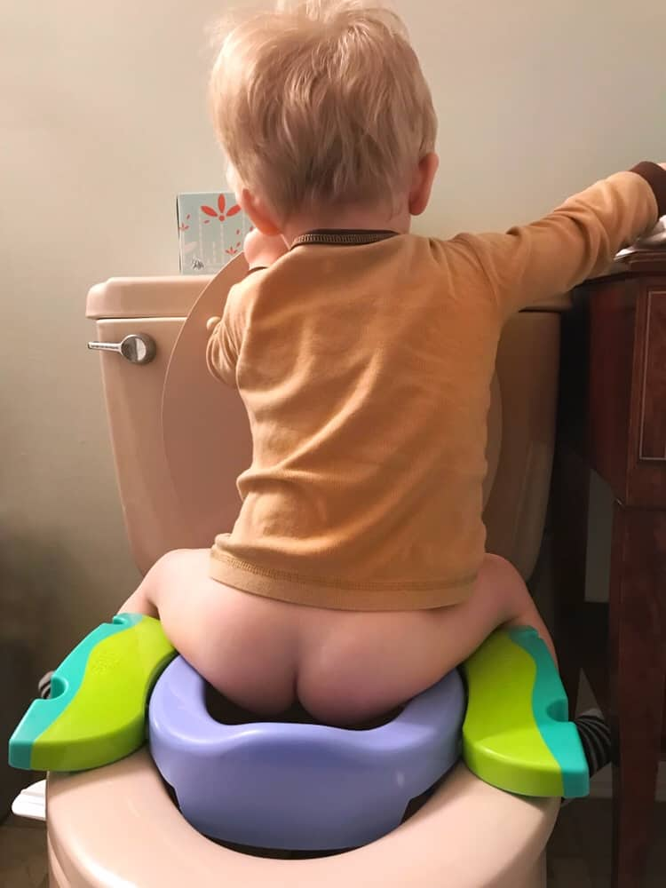 Using the potty during our re start