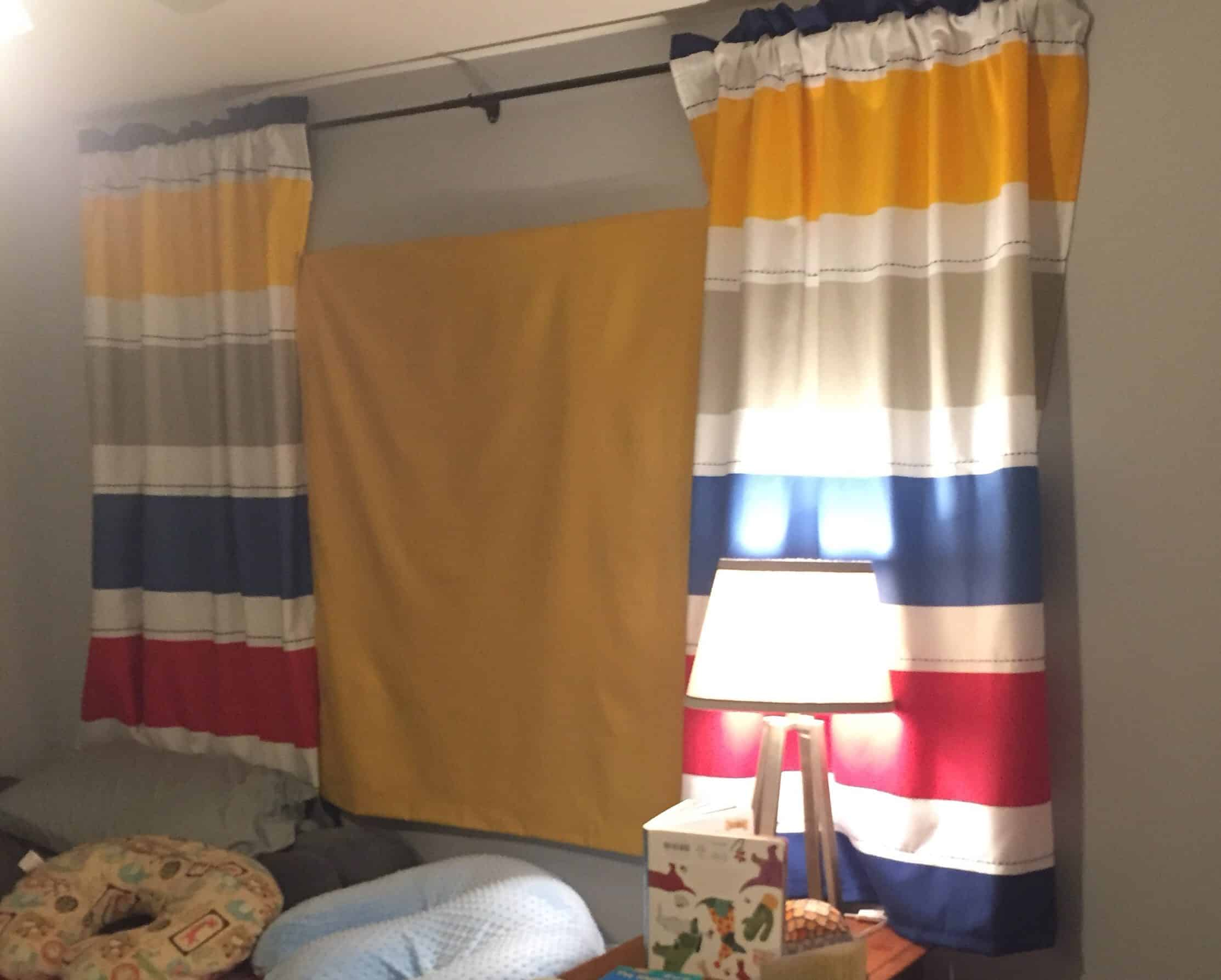 Diy Blackout Shades For Sliding Doors Quick And Easy Fort Birthday
