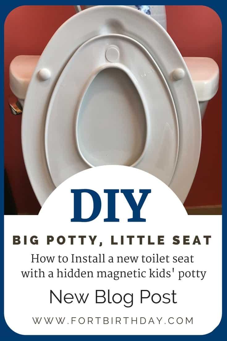 Pinterest Pin for Toilet Lid install of hidden kids potty in toilet seat