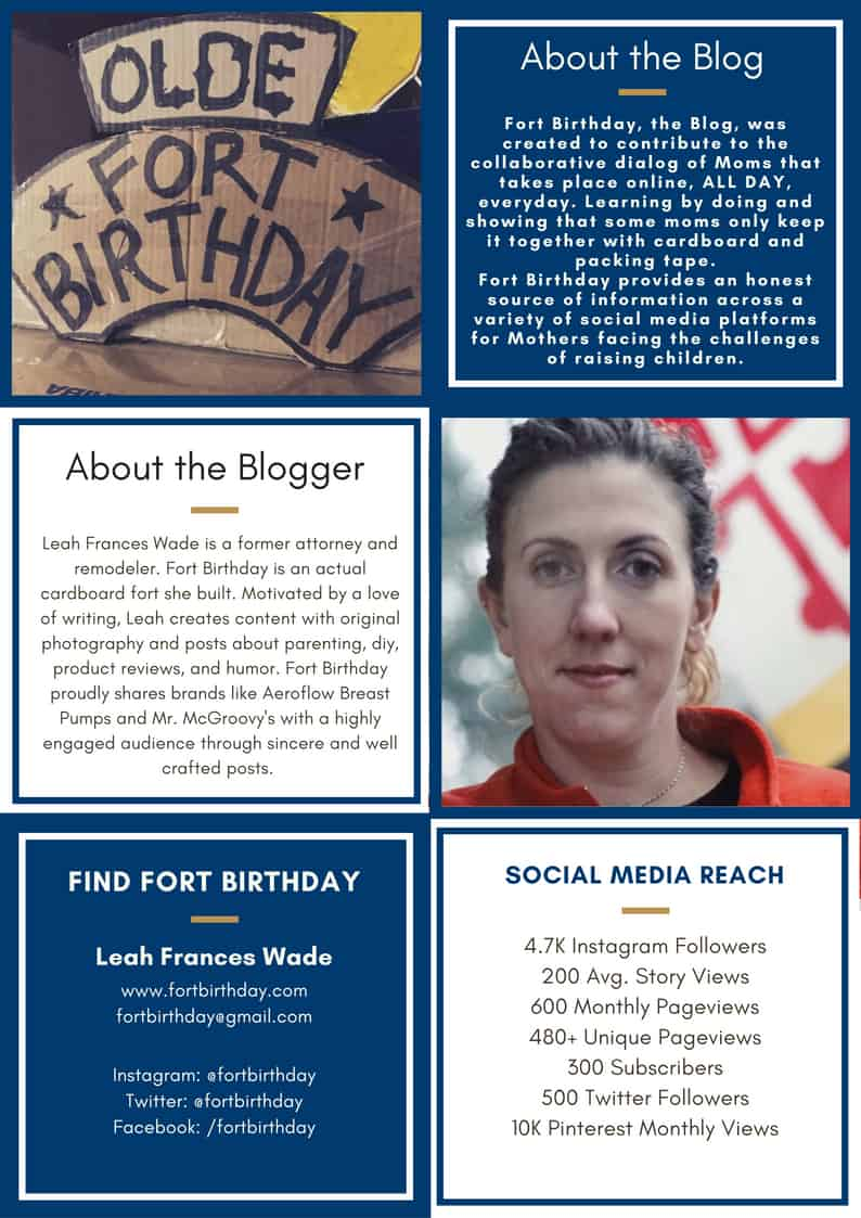 Fort Birthday Blog Media Kit