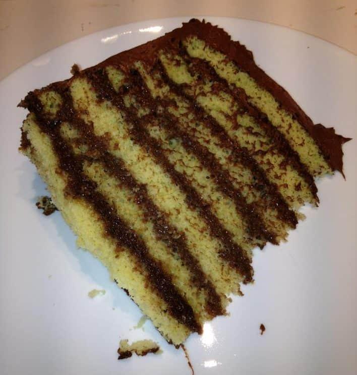 Smith island cake chocolate frosting yellow cake many layers